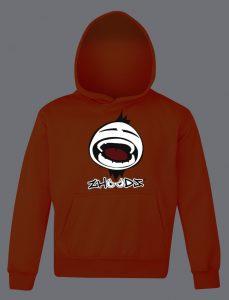 Kids Original Shout Zhoodz Hoody in Electric Orange RRP £32.95